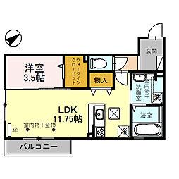 (仮)D-room四十万町[103号室]の間取り