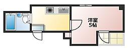 王子パークルーム1[4階]の間取り