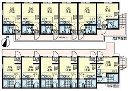 ユナイト 横浜パームデールの杜[2階]の間取り