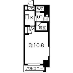 アールズタワー瑞穂運動場西駅前 4階1Kの間取り