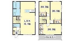 [一戸建] 兵庫県姫路市継 の賃貸【兵庫県 / 姫路市】の間取り