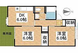 岡山県岡山市南区芳泉3丁目の賃貸アパートの間取り