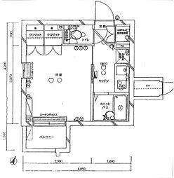 ルーブル学芸大学[3階]の間取り