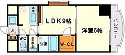 ノルデンハイム新大阪2[7階]の間取り