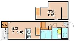グランドソレーユ吉塚[2階]の間取り