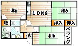 マストミマンション[2階]の間取り