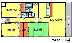 フレール江坂[2階]の間取り