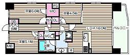 S-GLANZ大阪同心[13階]の間取り
