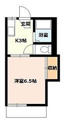 桜コーポA[107号室]の間取り