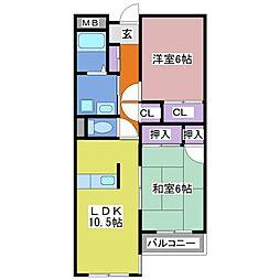 メイデンビル[2階]の間取り