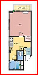 東京都荒川区西日暮里4丁目の賃貸マンションの間取り