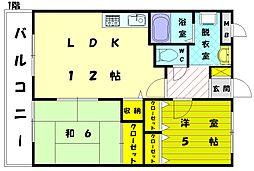 ピュアロイアル2[1階]の間取り