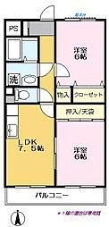 弥藤壱番館[202号室]の間取り