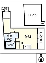 LE COCON新川町[3階]の間取り
