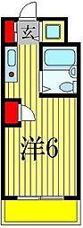 クレストパレス松戸[408号室]の間取り