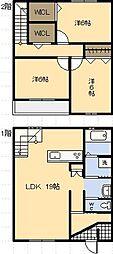 [一戸建] 宮崎県宮崎市祇園3丁目 の賃貸【/】の間取り