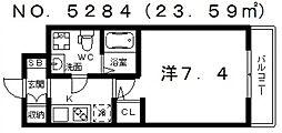FDS Court Felice(エフディーエスコートフェリーチェ)[1階]の間取り