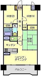 サンシティ秋田大町[703号室]の間取り