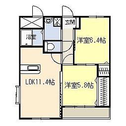 トライベッカ神宮[4階]の間取り