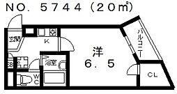 パークメゾン住吉[6階]の間取り