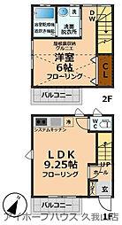 ドリミア井の頭 1階1LDKの間取り