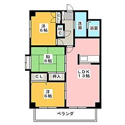 パーシモンヒルズ桜本町[6階]の間取り