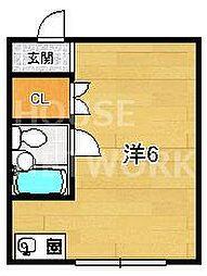 エリントンズハウス[3B号室号室]の間取り