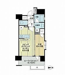 グローベル ザ・スイート横浜プレミア 2階1LDKの間取り