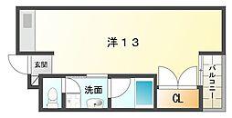 サイレント・1[3階]の間取り