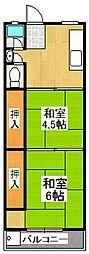武村マンション[2階]の間取り