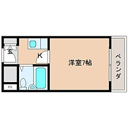 奈良県奈良市帝塚山6丁目の賃貸マンションの間取り