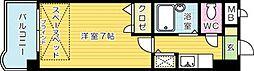 ライオンズマンション小倉駅南第2[402号室]の間取り