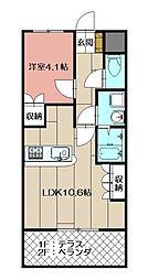 maison de Yuu[207号室]の間取り