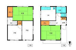 [一戸建] 東京都足立区梅島3丁目 の賃貸【/】の間取り
