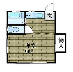 橋本ハイム[1階]の間取り