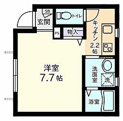 ブライトハウス[1階]の間取り