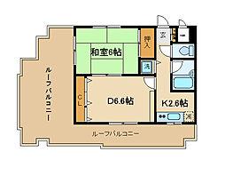 兵庫県神戸市須磨区外浜町2丁目の賃貸マンションの間取り