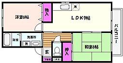 兵庫県神戸市東灘区魚崎南町7丁目の賃貸アパートの間取り