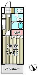 グランポール鎌倉[203号室]の間取り
