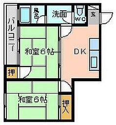 角田ビル大田町[301号室]の間取り