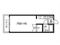 サテンドール千本[5階]の間取り