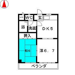 佐川ビル[4階]の間取り