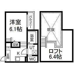 愛知県名古屋市西区江向町3の賃貸アパートの間取り