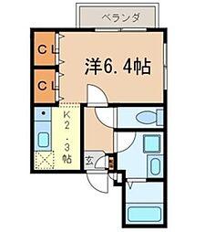 千葉県船橋市本中山4丁目の賃貸マンションの間取り