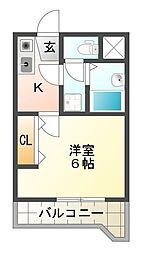 大阪府高槻市西冠1丁目の賃貸マンションの間取り