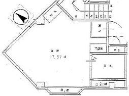 アパートメント白糸台[3階]の間取り