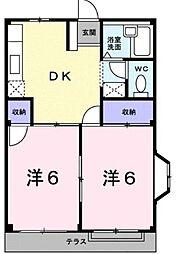 エルディム喜多村 A・B棟[2階]の間取り