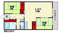 岩崎第3ビル[4階]の間取り