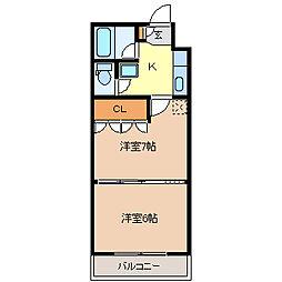 イーグルハイツ錦町[4階]の間取り