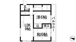 兵庫県宝塚市小浜5丁目の賃貸マンションの間取り
